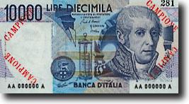 10000 Italiaanse lire-biljet