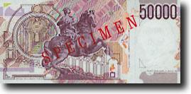 50000 Italiaanse lire-biljet