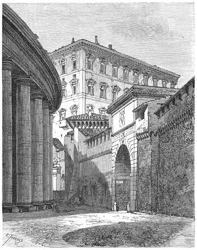 De Porta-Angelica.—Het pauselijk paleis.