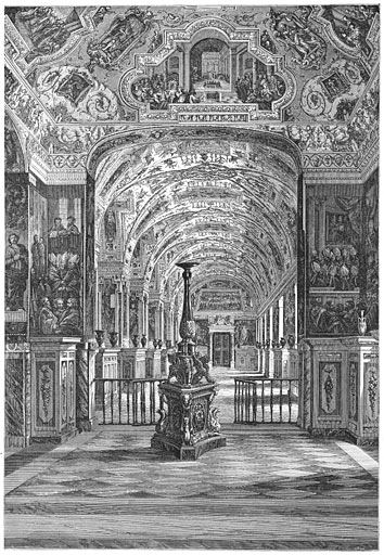 Groote galerij der vatikaansche bibliotheek.