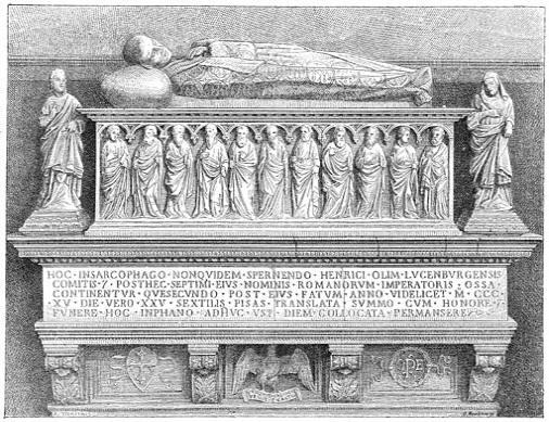 Tombe van Keizer HendrikVII in het Campo-Santo.